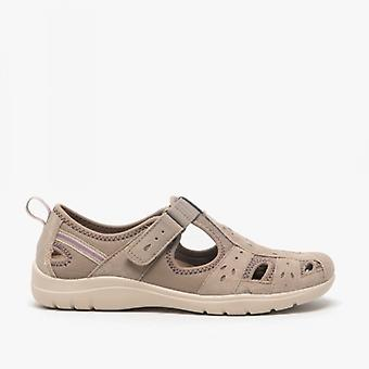 Earth Spirit Cleveland Ladies Suede Sandals New Khaki