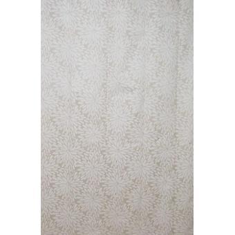 Petal Cream Design Polyester Shower Curtain 190 x 180cm