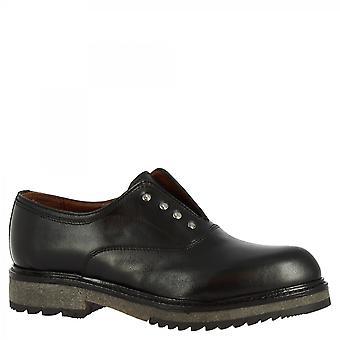 Leonardo Shoes Women's handgemaakte mode kantloze schoenen in zwart kalfsleer