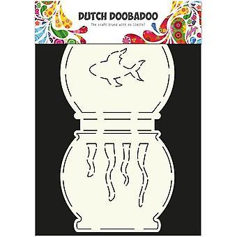 Hollandsk Doobadoo hollandsk kort Kunst Stencil fisk skål A5 2x13,5x15cm 470.713.504