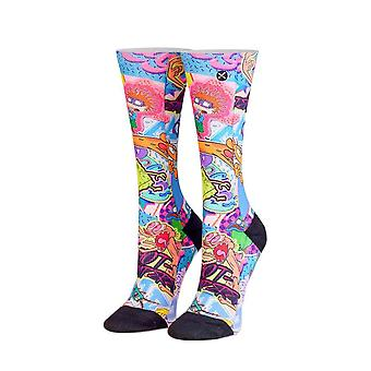 Women's Nickelodeon 90's Cartoon Stickers Sublimated 360 Crew Socks