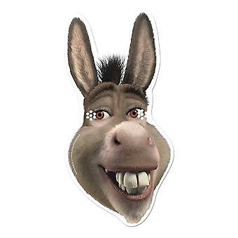 Donkey from Shrek Single Card Party Fancy Dress Mask