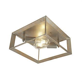 Searchlight Heaton 2 Luz Flush Ceiling Light Silver, Oro 2412-2SI