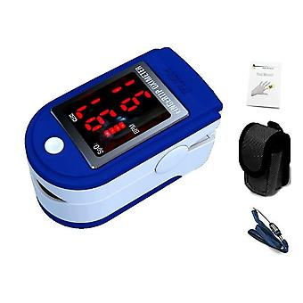 Finger Pulse Oximeter & Heart Rate Monitor Lanyard & Case - Dark Blue