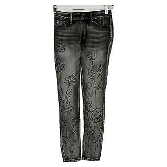 Laurie Felt Women's Jeans Silky Denim Water Paint Skinny Gray A310011