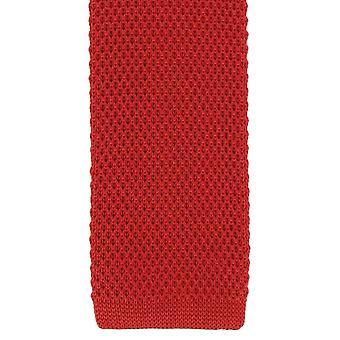 Eingewandt London Seide gestrickter Skinny Tie - rot