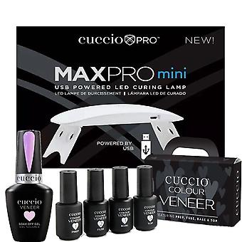 Cuccio Colour Fineer Professional - Rainbow Sorbet Gel Polish Curing Kit - Cotton Candy Sorbet 13ml, USB Curing Lamp & Mini Treatment Kit - Set 2
