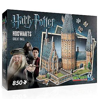 Wrebbit Harry Potter Hogwarts Great Hall 3D Jigsaw Puzzle (850 Pieces)