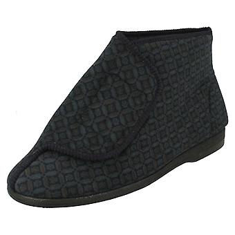 Mens Balmoral Hook And Loop Bootie Slippers MVB M46
