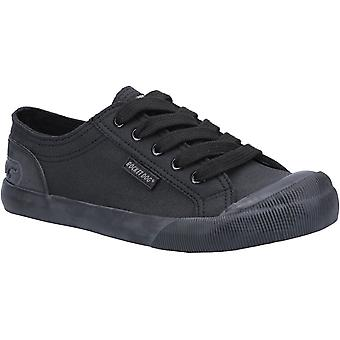Rocket Dog Womens Jazzin Fable Lace Up Trainer Black