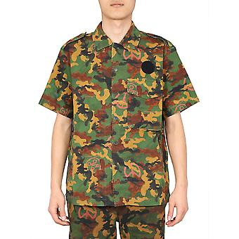 Off-white Omga107r203620019900 Men's Camouflage Cotton Shirt