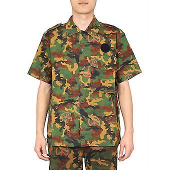 Off-white Omga107r203620019900 Mænd's Camouflage Bomuldsskjorte
