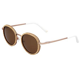 Earth Wood Himara Polarized Sunglasses - Oak/Brown