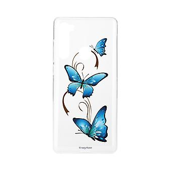 Hull For Xiaomi Redmi Note 8 Soft Butterfly On Arabesque