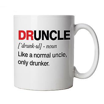 Druncle, caneca dos homens - o presente de Natal do dia bebido engraçado dos pais do tio ele