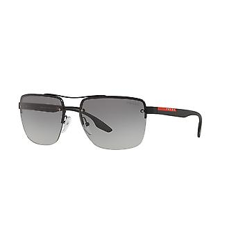 Prada Sport Linea Rossa SPS60U DG03M1 Black Rubber/Grey Gradient Sunglasses