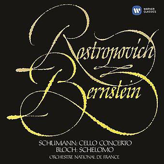 Schumann / Rostropovich / Bernstein / Onf - Cello Concerto / Bloch: Schelomo [CD] USA import