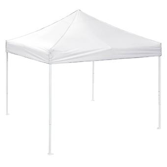 Instahibit 10'x10' EZ Pop Up Canopy Tent Outdoor UV30+ Sun Shading PVC Water Resistance White Yard Party Instant Shelter