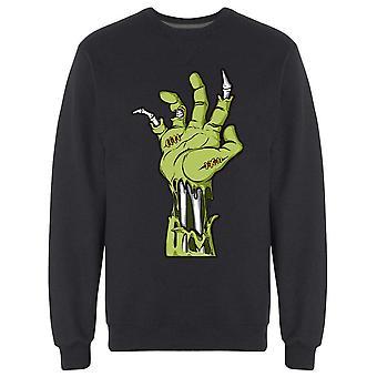 Avhuggen Zombie Hand Sweatshirt Men's -Bild av Shutterstock