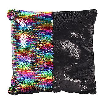Something Different Rainbow Sequin Cushion
