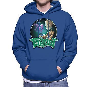 Marvel Guardians Of The Galaxy Teenage Gamer Groot Men's Hooded Sweatshirt