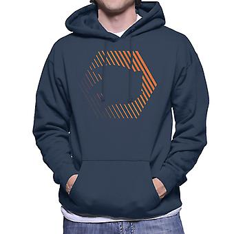Sonic The Hedgehog Sliced Energy Men's Hooded Sweatshirt