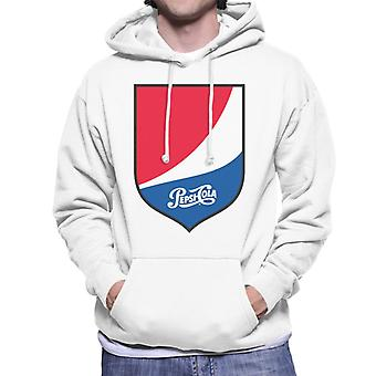 Pepsi Cola 1940s Shield Logo Men's Hooded Sweatshirt
