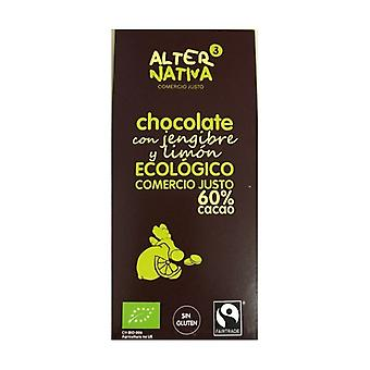 Chocolate 60% Cocoa with Ginger and Lemon Bio 80 g