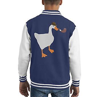 Detektiv Goose uten navn gås spillet Kid ' s Varsity jakke