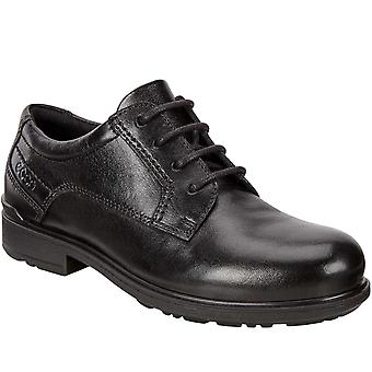 Ecco Boys Kids Cohen Smart Formal School Lace Up Leather Brogues Shoes - Black