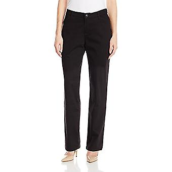 LEE Women's Relaxed Fit All Day Straight Leg Pant,Black,8 Petite