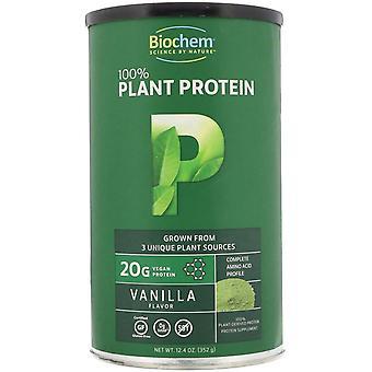 Biochem, 100% Plant Protein, Vanilla Flavor, 12.4 oz (352 g)