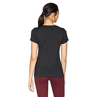 Marke - Core 10 Frauen's ausgestattet Run Tech Mesh Kurzarm T-Shirt, Bla...