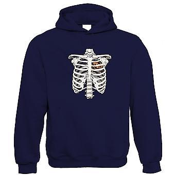 Kürbis Herz Skelett Hoodie - Halloween Trick oder behandeln gruselige Kostüm