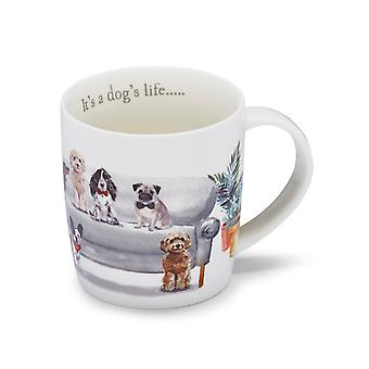 Cooksmart Curious Dogs Barrel Mug Dogs Life