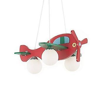 Ideel Lux Avion - Rød og grøn flyvemaskine vedhæng, E14