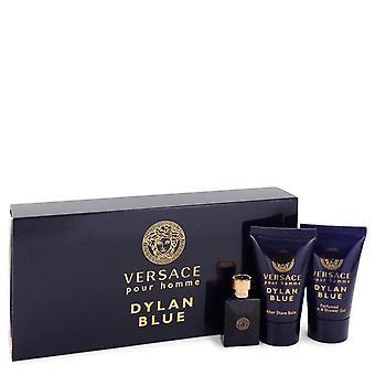 Versace Pour Homme Dylan Blue Gift Set By Versace 0.17 oz Mini EDT + 0.8 oz After Shave Balm + 0.8 oz Shower Gel