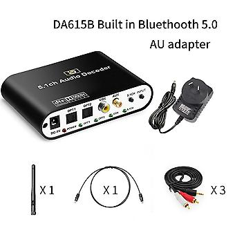 5.1ch Audio Decoder Bluetooth 5.0 Reciever Dac Wireless Adapter Optical Coaxial