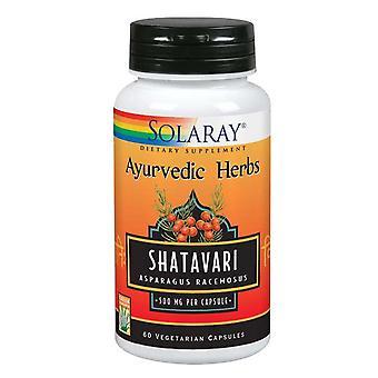 "Solaray Shatavari, 500 מ""ג, 60 כמוסות"