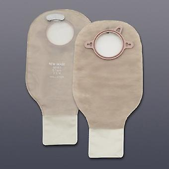 Hollister Filtrado Bolsa de ostomia nova imagem sistema de duas peças de comprimento drenável, transparente 10 contagem