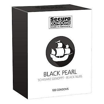 Secura kondome paquete de condones de perlas negras de 100
