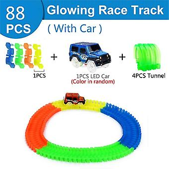 Railway Magical Glowing Flexible Track, Racing Bend Rail Track, Led Electronic