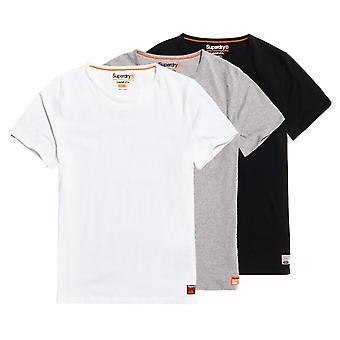 Superdry Laundry 3-Pack Slim Fit T-paidat Harmaa 48