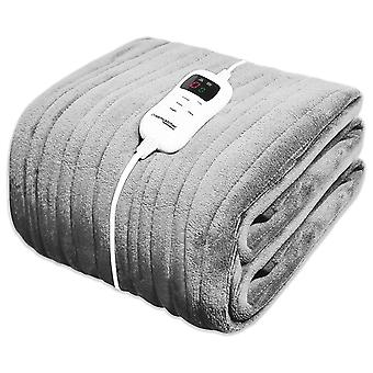 Dreamcatcher Fleece Heated Washable Electric Blanket Throw, Brown, 160 x 120cm