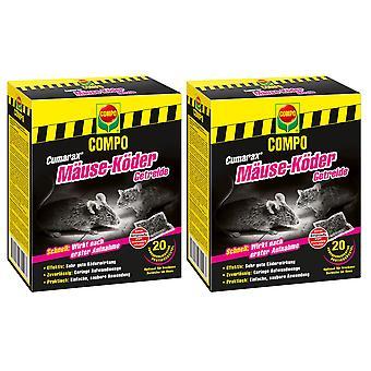 Sparset: 2 x COMPO Cumarax® mice bait cereals, 200 g