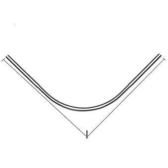U Shaped, Extendable Shower Curtain Rod