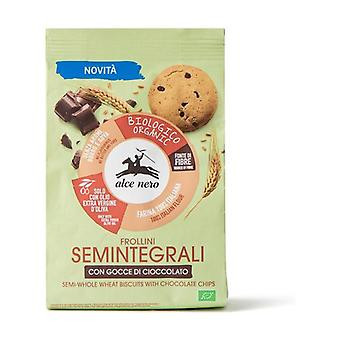 Semi-wholemeal shortbread with organic chocolate chips None
