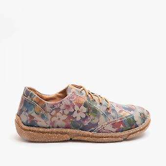 Josef Seibel Neele 02 Ladies Leather Shoes Floral multicolore