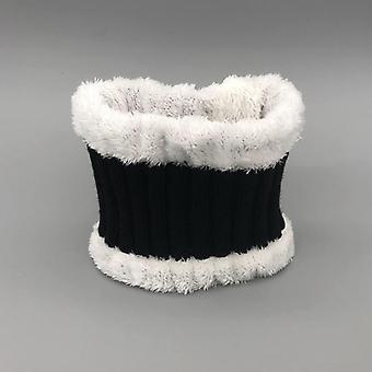 Zimní šátek zahuštěný vlněný límec šátky krk bavlna unisex