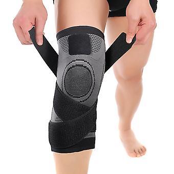 Genou Brace À huit caractères puttee Compression Knee Sleeve pour Sports Gray